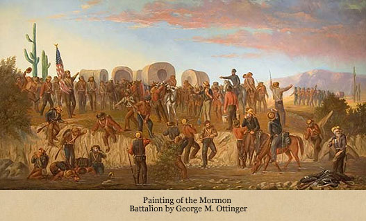 The Mormon Battalion at Gila River in Arizona