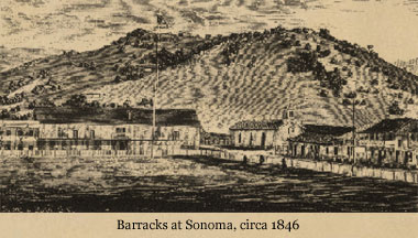 Barracks at Sonoma, circa 1846